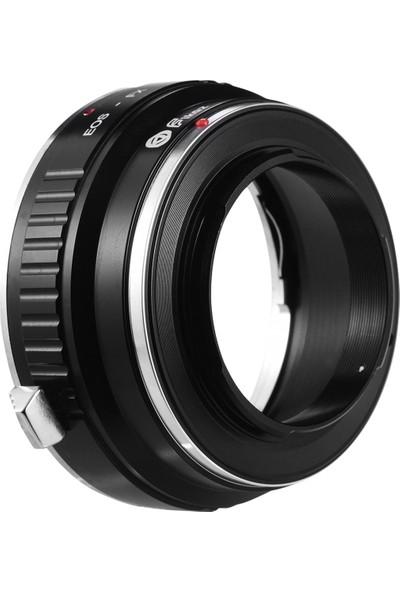 Fikaz Eos-Fx Lens Montaj Adaptörü Halkası Alüminyum (Yurt Dışından)