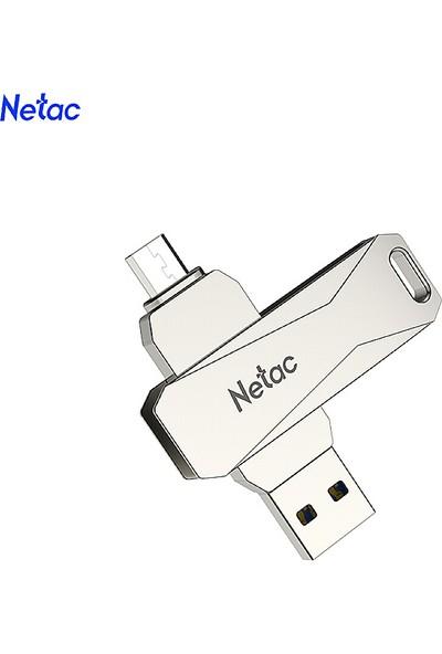 Netac U381 64 GB Mikro USB + USB Çift Arabirim Flash (Yurt Dışından)