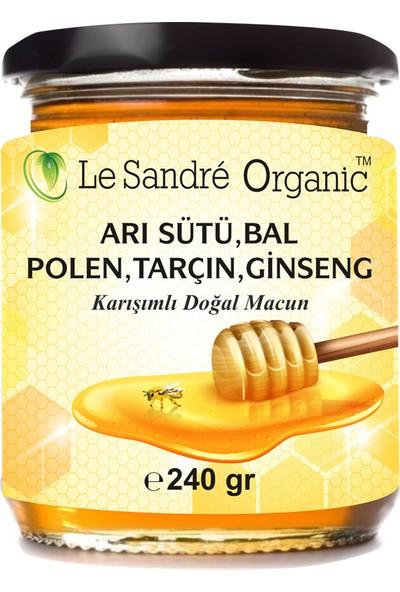 Le Sandre Organics Arı Sütü + Bal + Polen + Tarçın + Ginseng 240 gr