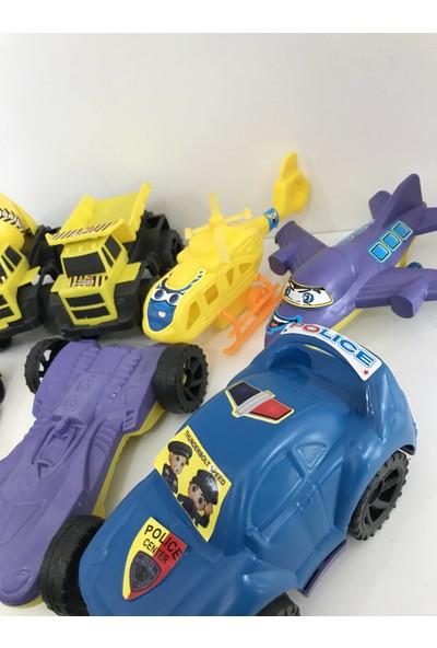 Evimsan 7'li Oyuncak Set Oyuncak Araba + Kamyon + Dozer