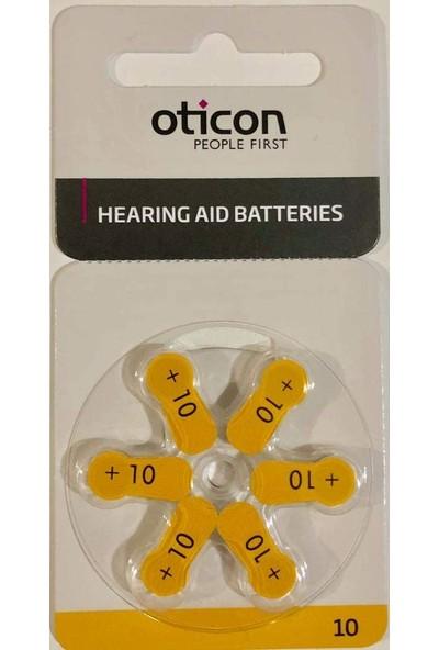 Oticon 10 Numara İşitme Cihazı Pili (10 Paket)