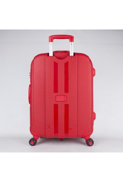 Bagacar Shell Silikon Kırılmaz Büyük Boy Valiz Kırmızı