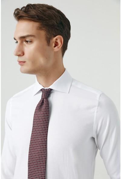 D's Damat Slim Fit Beyaz Gömlek
