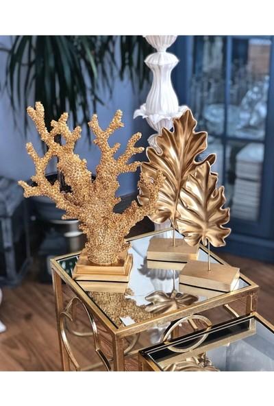 Everest Dekoratif Çınar Yaprak 2'li Altın Varak