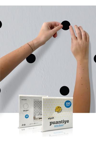 Happypotam Siyah Puantiye Bebek Odası Sticker 100'LÜ
