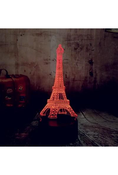 İdeal Reklam Eyfel Kulesi 3D Gece Lambası