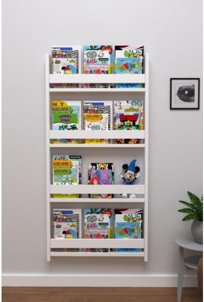 Berpahome Montessori Kitaplık Eğitici Çocuk Kitaplığı 4 Raflı