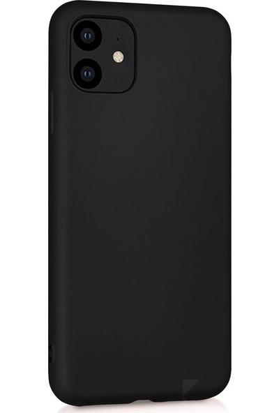 Nomino I Phone 11 Siyah Silikon Kılıf + Ful Ekran Koruma-9h