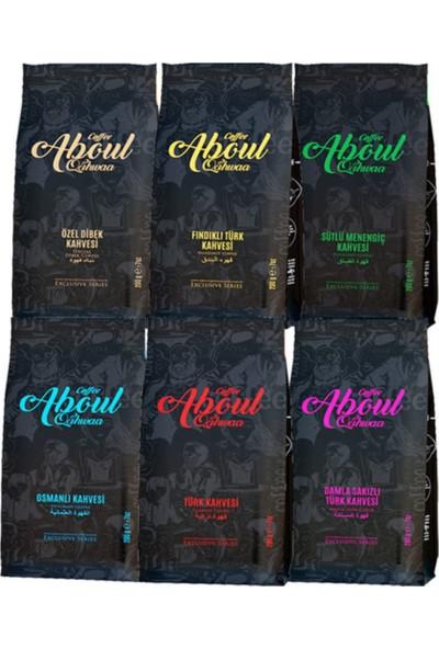 Aboul Qahwaa 6 Farklı Blok Bottum Türk Kahvesi Seti 200 gr