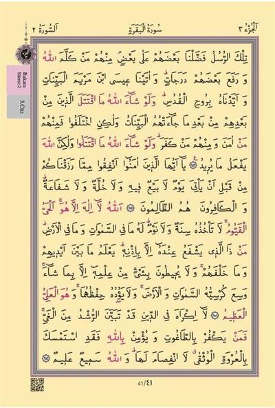 Cami Boy Kur'an-I Kerim (2 Renkli, Yeşil, Mühürlü)