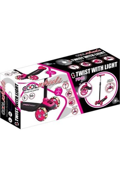 Furkan Toys Cool Wheels 3 Yaş Üstü Işıklı Twist Pembe Scooter