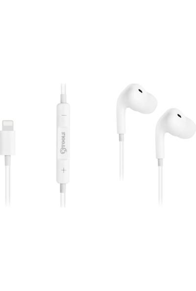 Ktools Bt Lightning Stereo Kablo Mikrofonlu Iphone Kulaklık 120CM