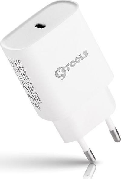 Ktools Boost Pd 18W USB C Hızlı Şarj Cihazı Adaptörü