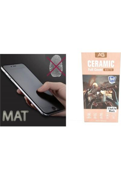 Ag iPhone 8 Plus Black Özel Seramik Kırılmaz Ful Ekran Cam