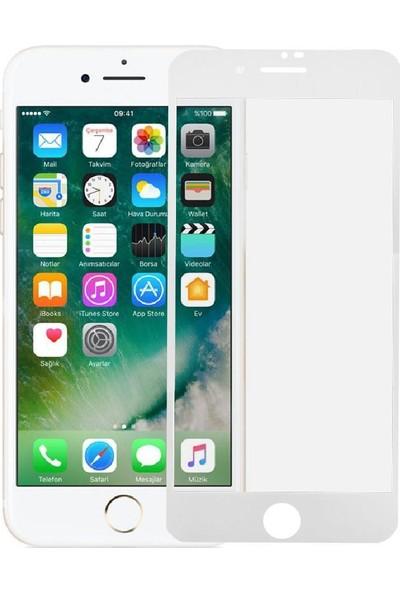 Ag iPhone 7 White Özel Seramik Kırılmaz Ful Ekran Cam