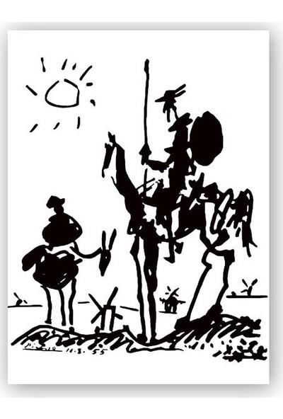 Caka Tablo Ahşap Tablo Don Kişot Pablo Picasso