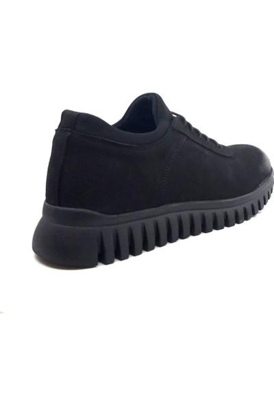 James Franco 4685 Ortapedik Siyah Günlük Erkek Nubuk Deri Ayakkabı