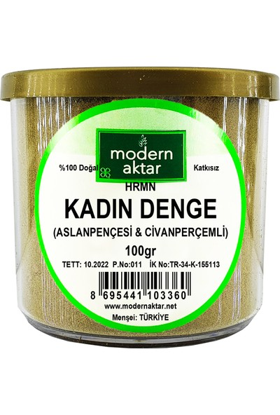 Modern Aktar Kadın Denge ( Aslanpençesi ve Civanperçemli ) Çayı 100 gr
