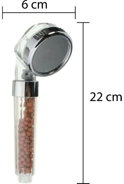 Ahlez Su Tasarruflu Arıtmalı Duş Başlığı Duş Hortumu Vakumlu Mafsal Duş Takımı