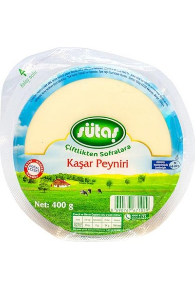 Sütaş Taze Kaşar Peyniri 200 gr