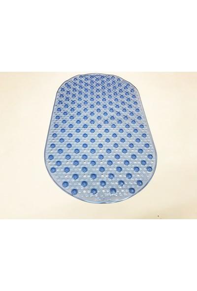 Bademler Halı Banyo Küvet Duşakabin Için Kaydırmaz Vantuzlu Paspas 40X70CM Mavi Renk