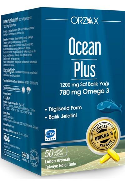 Orzax Ocean Plus 1200 Mg 50 Kapsül Balık Yağı