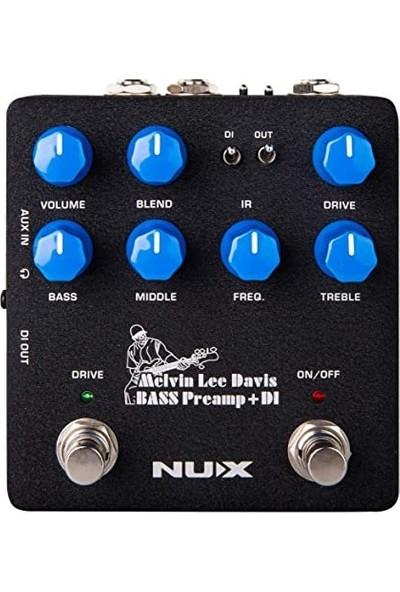Nux Nbp-5 Melvin Lee Davis Signature Bass Preamp + Dı Box