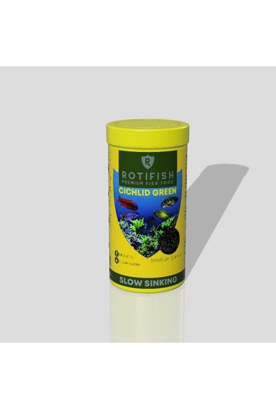 Rotifish Cichlid Green Medium Batan Otçul Çiklit Balığı Yemi 1000 ml 500 gr