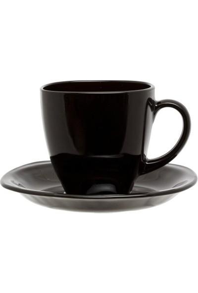 Luminarc Yalta 6'lı Siyah Çay Fincanı Seti 220 ml