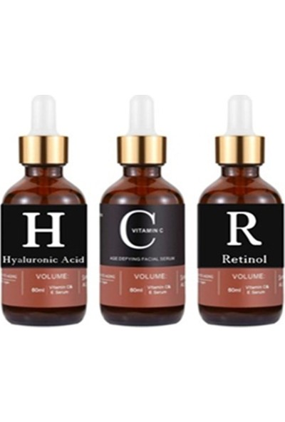 Pure Retinol &vitamin C & Hyaluronic Acid 3'ü 1 Arada