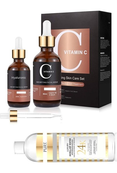 Pure Vitamin C 60 ml + Hyaluronic Acid 30 ml + Kolejen Tonikm 200 ml 86124582369 PR44