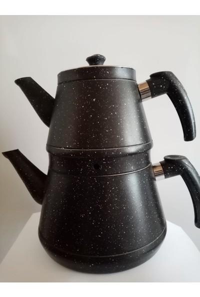 Aras Cook Granit Kaplamalı Çelik Çaydanlık (Siyah)
