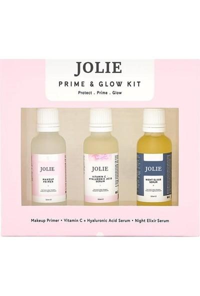 Jolie Gece Serumu + Ha-C Serum + Makyaj Bazı JL56