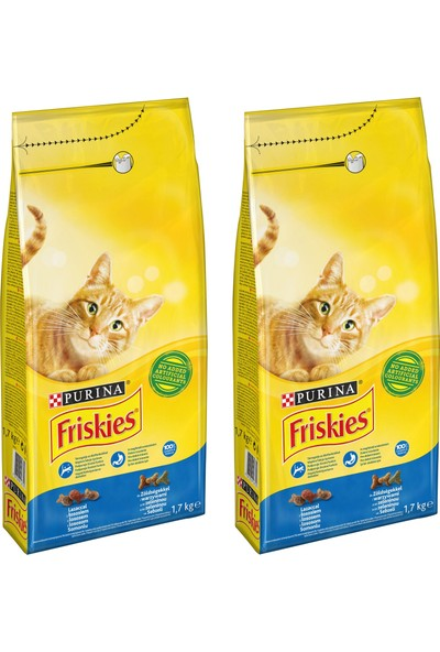 Purina Friskies Somonlu ve Sebzeli Kedi Maması 1.7 kg x 2 Adet