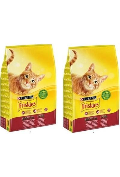 Purina Friskies Sığır Etli Tavuklu ve Sebzeli Kedi Maması 1.7 kg x 2 Adet