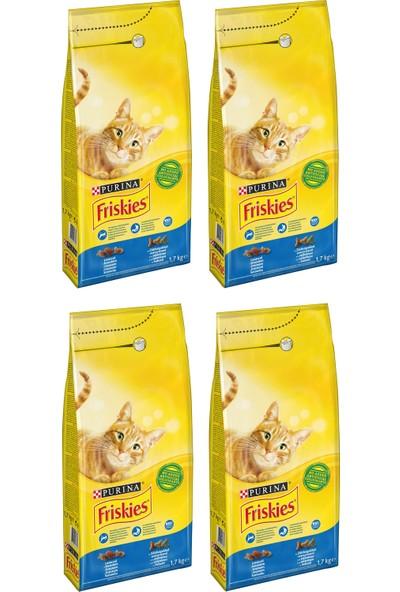 Purina Friskies Somonlu ve Sebzeli Kedi Maması 1.7 kg x 4 Adet