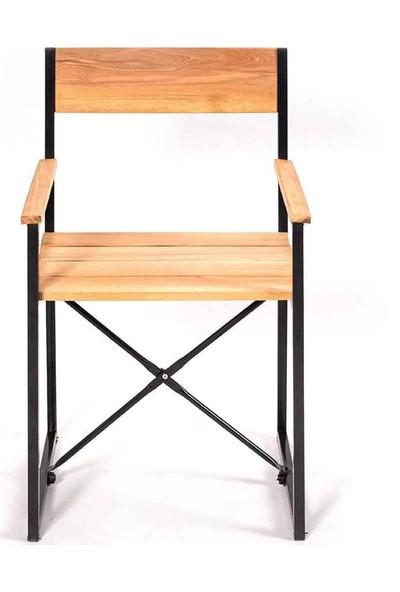 Weblonya Kolçaklı Sandalye Mutfak Sandalyesi Ağaç Koltuk 5157