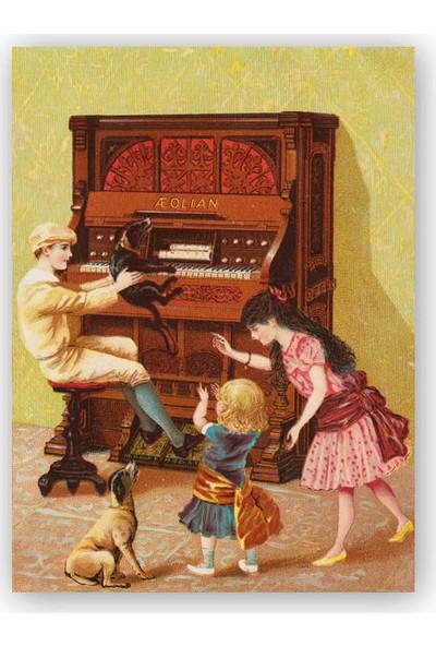 Caka Tablo Ahşap Tablo Piyano Çocuklar ve Köpekler
