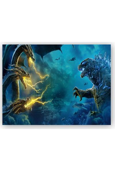 Caka Tablo Ahşap Tablo Godzilla King of The Monsters