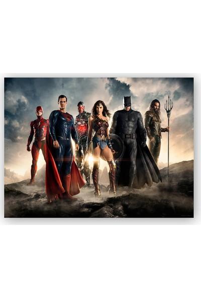 Caka Tablo Ahşap Tablo Justice League Kahramanlar