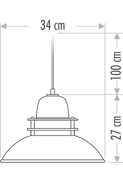 Seldur Dekoratif Sarkıt Avize Beyaz 34 cm