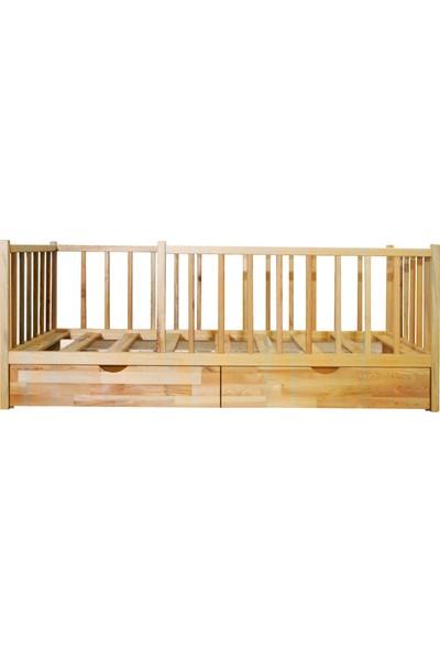 Ürün Şehri Montessori Yatak Çekmeceli Doğal Ahşap Çocuk YATAK-CMY011