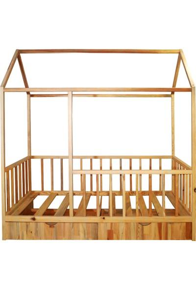 Ürün Şehri Montessori Yatak Çekmeceli Doğal Ahşap Çocuk YATAK-CMY013