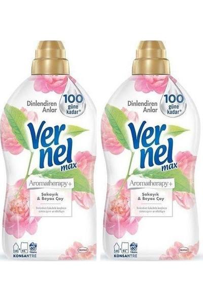 Vernel Max 2'li Şakayık Beyaz Çay Yumuşatıcı 60 Yıkama 1440 ml