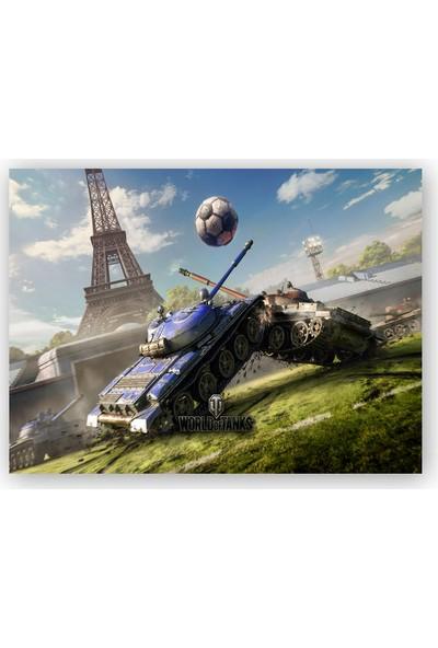 Caka Tablo Ahşap Tablo World of Tanks Paris'te Futbol