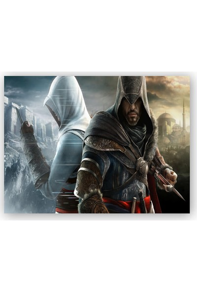 Caka Tablo Ahşap Tablo Assassins Creed Revelations Suikastçiler İstanbul'da