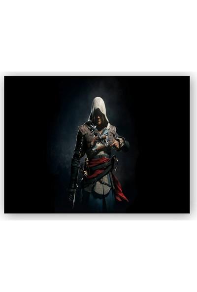 Caka Tablo Ahşap Tablo Assassins Creed Suikastçi Karanlık Arkaplan