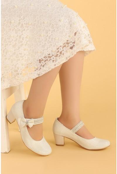 Kiko 752 Çupra Günlük Kız Çocuk 4 cm Topuk Babet Ayakkabı