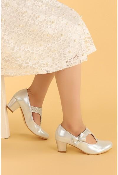 Kiko 755 Vakko Günlük Kız Çocuk 4 cm Topuk Babet Ayakkabı