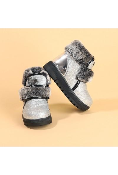 Kiko Twg 7535 Kışlık İçi Termal Kürklü Kız Çocuk Bot Ayakkabı